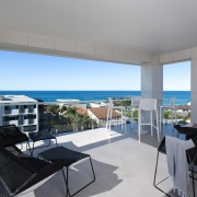 overview of Coolum beach from the house terrace