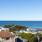 view of the ocean at Coolum beach from the house terrace