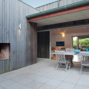 Beautiful deck area with fire place | Prestige Holiday Homes