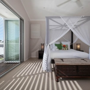 Spacious white bed   Prestige Holiday Homes
