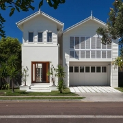 White modern house from the outside   Prestige Holiday Homes