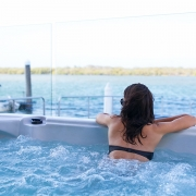 Jacuzzi overlooking the beach | Prestige Holiday Homes