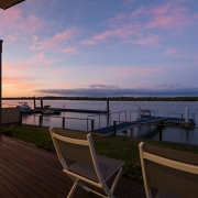 Beautiful sunset photo taken from the deck of one of the villas | Prestige Holiday Homes