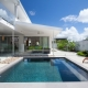 modern house with pool and spacious living spaces