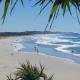Distance view of Coolum Beach.