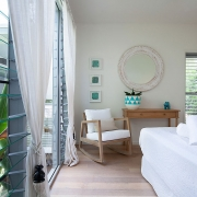 Well lit bedroom at Indigo Blue Beach House | Sunshine Coast Holiday Homes