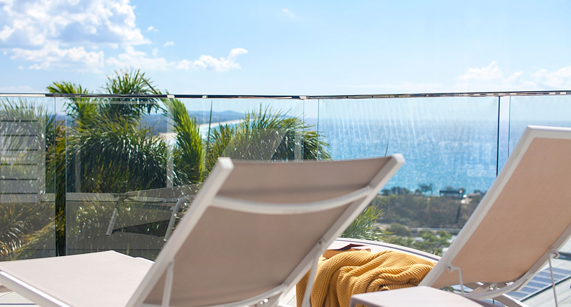 Sunchairs at Ocean View Beach House | Sunshine Coast Holiday Homes
