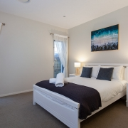 Side view of master bedroom | Beach Wave House