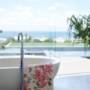 Bathtub and ocean view