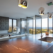 Kitchen with all bi-folds open | the Eyrie