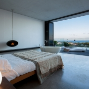 Master bedroom with ocean views, deck and spa bath | the Eyrie