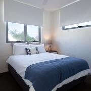 Bedroom with queen bed | Saltwater Beach House