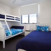 2nd floor double bed and bunk bed | Saltwater Beach House