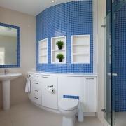 Blue bathroom | Saltwater Beach House