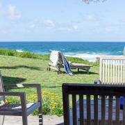Deck chairs and an ocean view | Saltwater Beach House