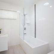 Modern bathroom at Bellavita Mudjimba Beach holiday home.