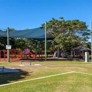 Playground near Bellavita Mudjimba Beach holiday home.