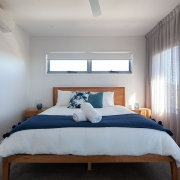 Queensize bed room at Sea Renity Coolum Beach | Sunshine Coast Holiday Homes
