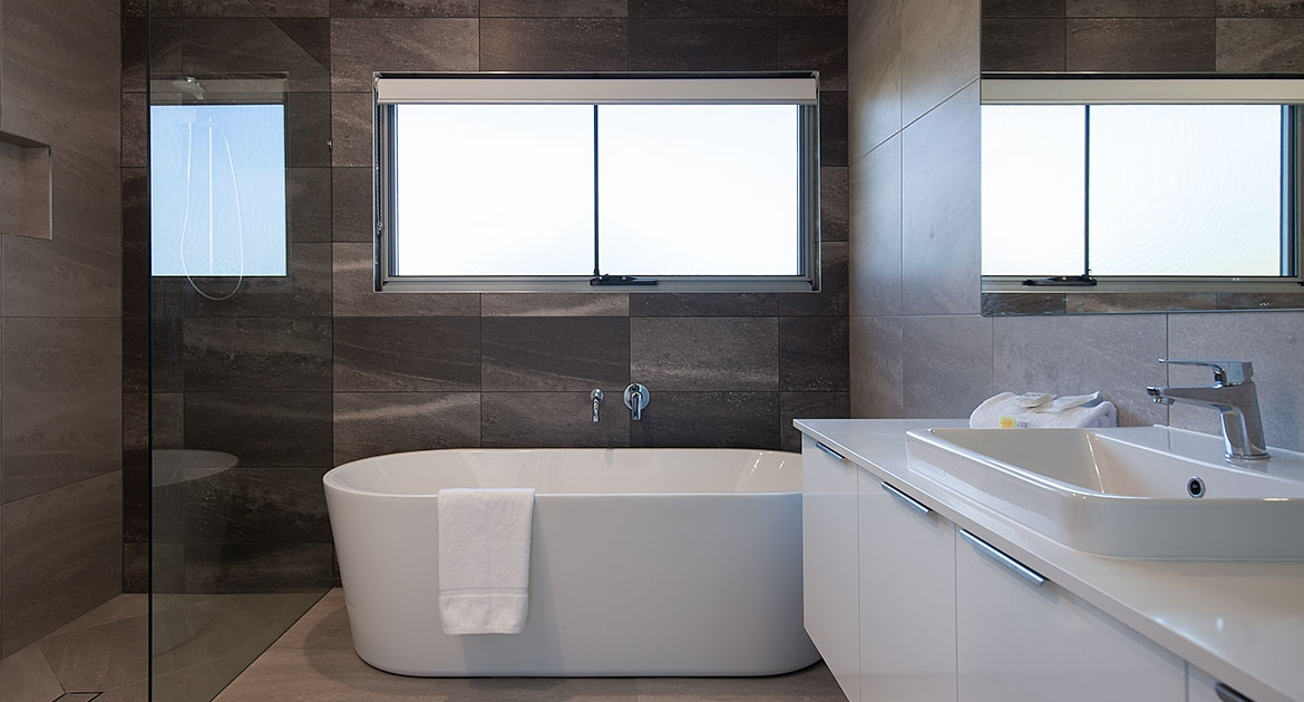 Modern and spacious bathroom at Sea Renity Coolum Beach | Sunshine Coast Holiday Homes