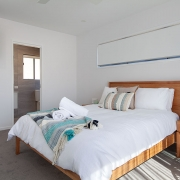 Queen bed at Sea Renity Coolum Beach | Sunshine Coast Holiday Homes