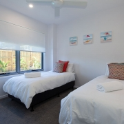Twin bed room at Sea Renity Coolum Beach | Sunshine Coast Holiday Homes