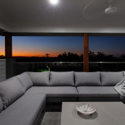 Sunset on verandah at Sea Renity Coolum Beach | Sunshine Coast Holiday Homes