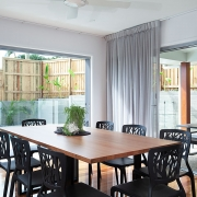 Dining room overlooking pool at Sea Renity Coolum Beach | Sunshine Coast Holiday Homes