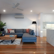 Living and kitchen at Sea Renity Coolum Beach | Sunshine Coast Holiday Homes