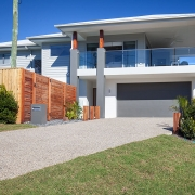 Drive way and front of house view at Sea Renity Coolum Beach | Sunshine Coast Holiday Homes