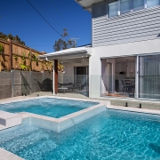 Pool with jacuzzi at Sea Renity Coolum Beach | Sunshine Coast Holiday Homes