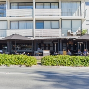 View of local shops at Sea Renity Coolum Beach | Sunshine Coast Holiday Homes