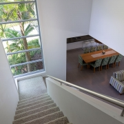 View at top of the staircase at Whitehaven Beach House Coolum holiday homes.