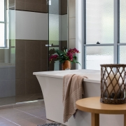 Another angle image of ensuite at Whitehaven Beach House Coolum holiday homes.
