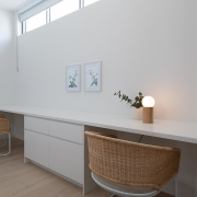 Study corner at Thalassa Beachfront Penthouse Coolum holiday homes.