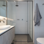 Shower room image at Thalassa Beachfront Penthouse Coolum holiday homes.