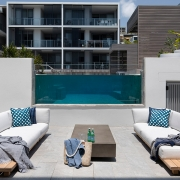 Another image of a lounge area at Thalassa Beachfront Penthouse Coolum holiday homes.