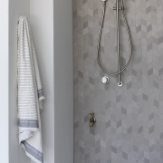 Shower room at Thalassa Beachfront Penthouse Coolum holiday homes.