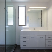 Bathroom at The Pool House Coolum Beach holiday home rentals.