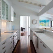 2nd floor kitchen at The Pool House Coolum Beach holiday home rentals.