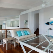 2nd floor lounge and entertaining area at The Pool House Coolum Beach holiday home rentals.