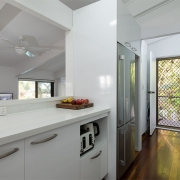 Kitchen at The Pool House Coolum Beach holiday home rentals.